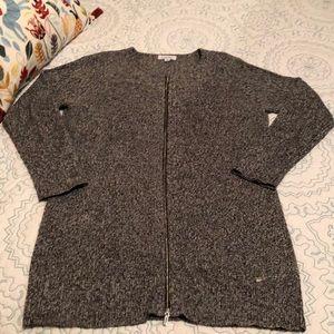 Calvin Klein Zip-up Cardigan Sweater